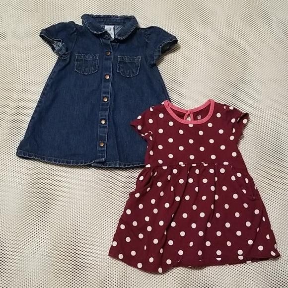 Bundle of baby Gap baby/infant girl dresses
